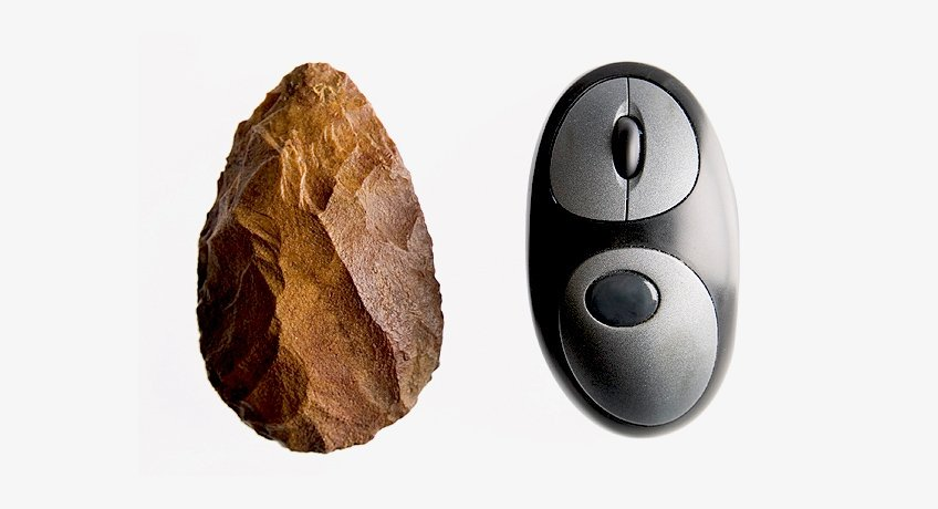 TECHNOLOGY AS AN EXPONENTIAL DRIVER OF HUMAN EVOLUTION. The one on the left lasted a million years.  The one on the right, just a few. #innovation <br>http://pic.twitter.com/0bcCx6OUeW