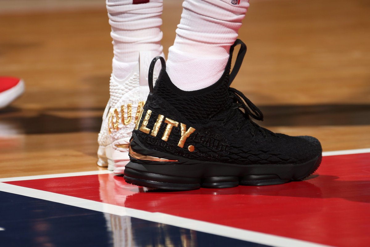 pretty nice 5d3d6 3bd0f LeBron James wore 'equality' shoes in a dig at Trump