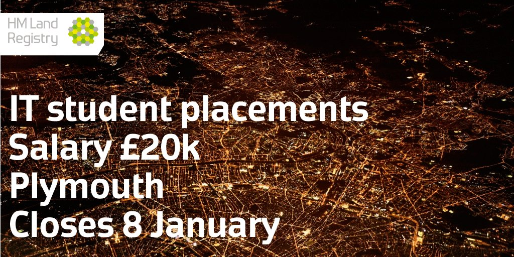Paid #IT #Student Placements available. Join us for a 12-month placement in our #Plymouth office. Get the opportunity to work on a number of different IT areas, developing your skills and experience.  http:// ow.ly/d2EA30hioN0  &nbsp;   <br>http://pic.twitter.com/E5dNjzv1kI