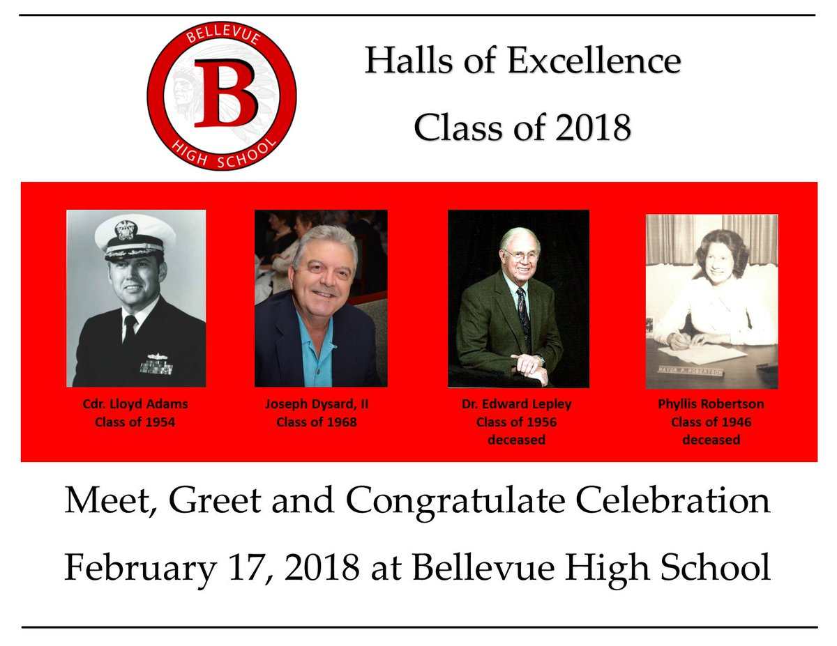 Bellevue High School On Twitter Congratulations To Our Halls Of
