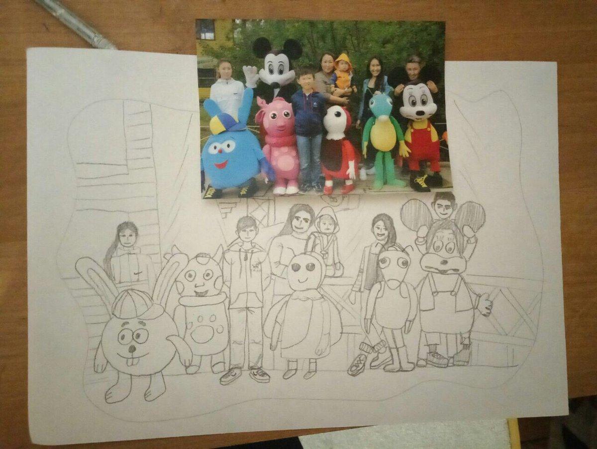 Рисунок семья читающая