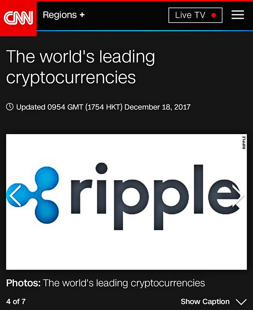 CNN lists $XRP as one of the world's leading cryptocurrencies!  #xrpthestandard #GainingTraction    https://t.co/FYf6xEUJfS