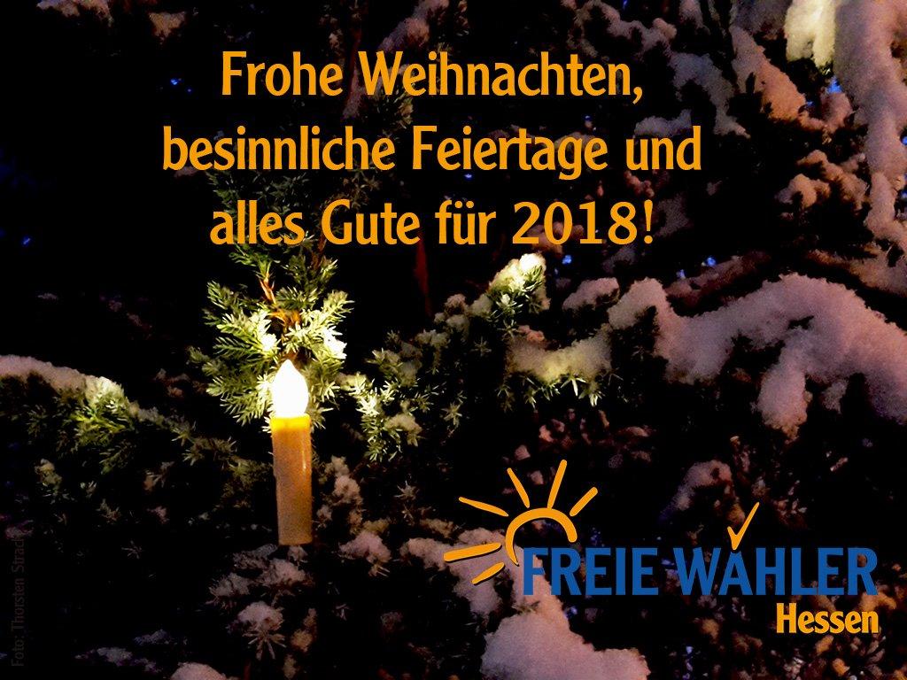 Frohe Weihnachten Besinnliche Feiertage.Freie Wähler Hessen On Twitter Frohe Weihnachten Besinnliche