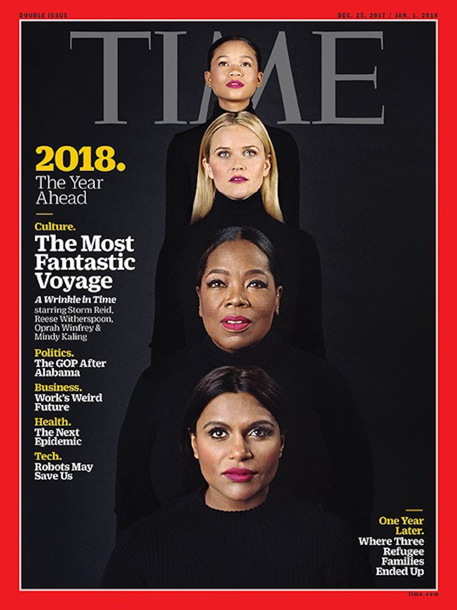 Amazing @Ava! This new @TIME Magazine cover featuring A Wrinkle In Time is everything!