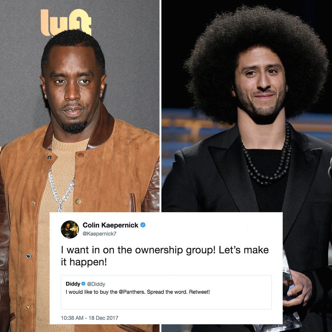 Colin Kaepernick wants in on @Diddy's ownership group.