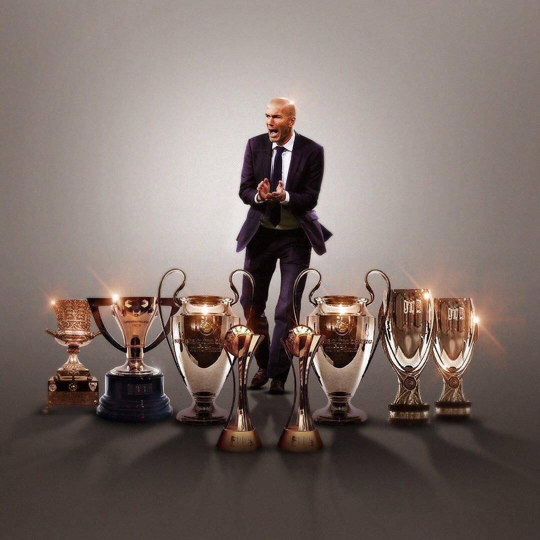 [#LaLiga🇪🇸] En seulement deux ans, Zidane est devenu le 2ème entraîneur du Real le plus titré