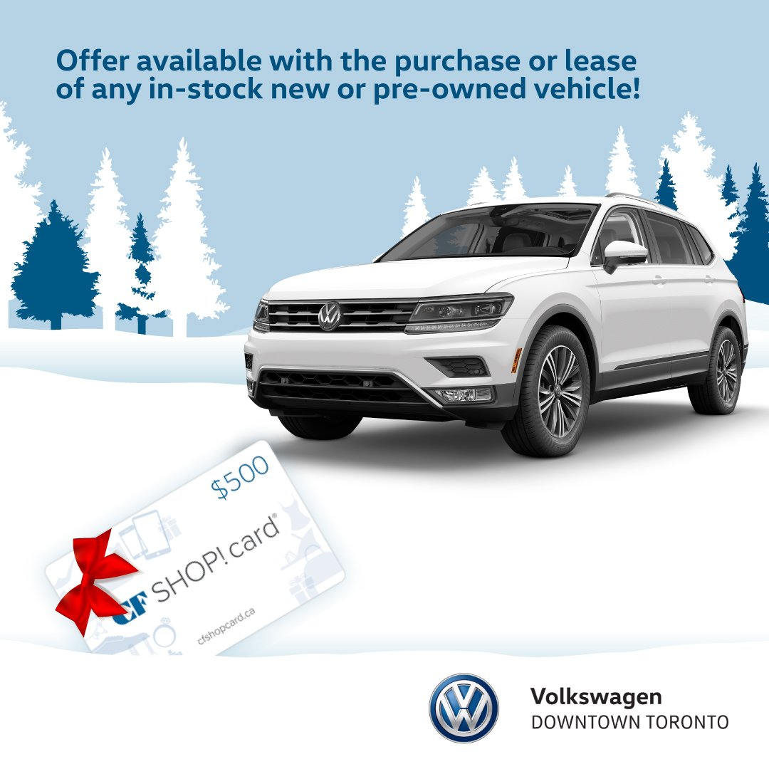 Volkswagen Downtown Toronto >> Vw Downtown Toronto On Twitter Finish Your Holiday Shopping With A