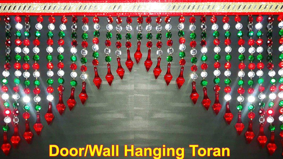 ... DIY Handmade Toran | How To Make Door Hanging Toran Simple And Easy |  Home Decorating Ideas #DIY #toran #HomeDecor Please Like U0026 Follow ...