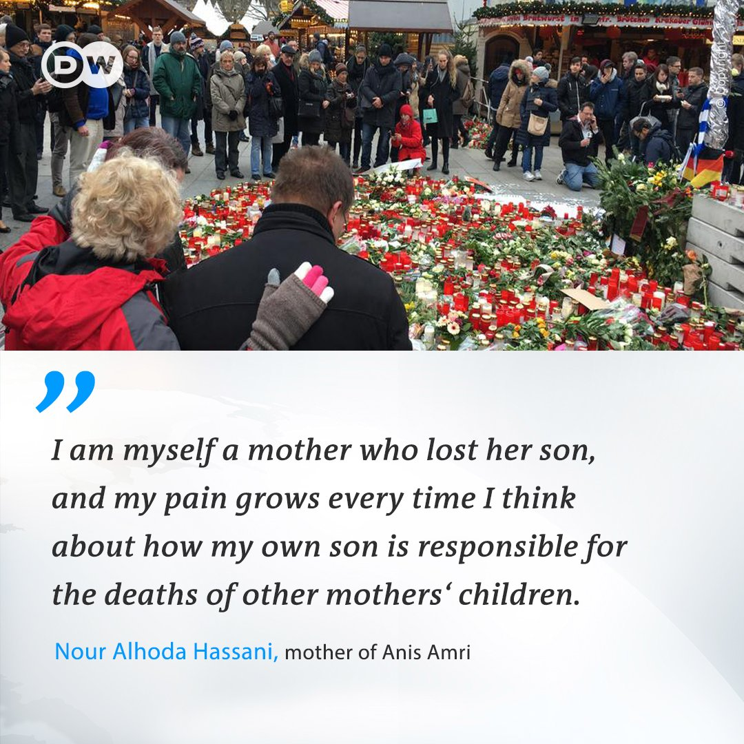 In an exclusive interview, the mother of Anis Amri, the assailant that attacked Berlin's Breitscheidplatz Christmas market last year, told DW that she would be willing to meet the mothers of her son's victims: