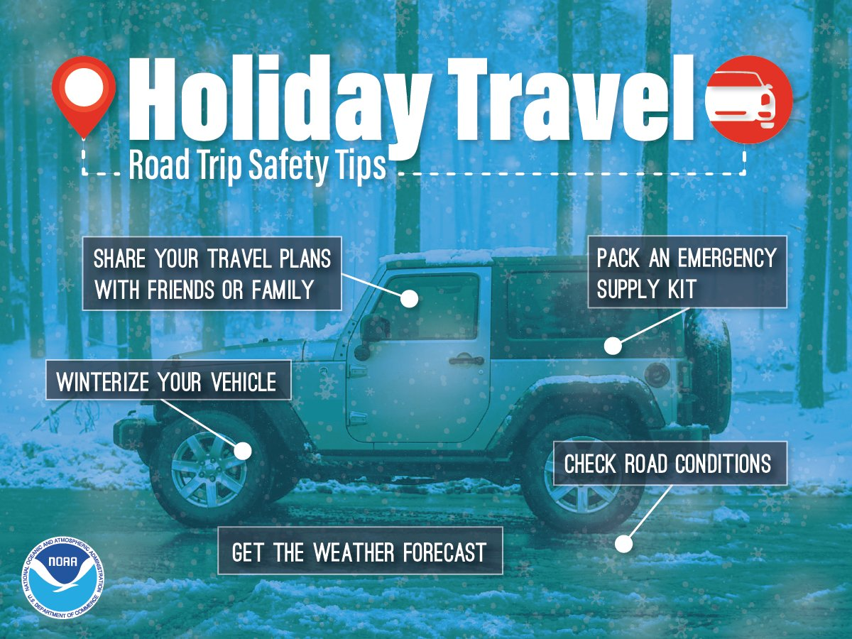 You may not be leaving today, so now is the time to prepare for holiday travel. Visit: https://t.co/VyWINDk3xP and https://t.co/8lPIFSh051 #WeatherReady #HolidayTravel