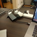 Oh, yes. Migrating to USB-C is so much fun ... 😠 #macbookpro #USB-C