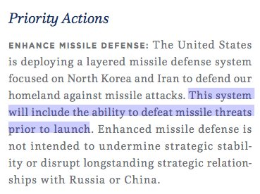 This was the Trump National Security Strategy item I was looking for. Whether traditional (like missiles) or new tech (like Stuxnet/virus), this is important.