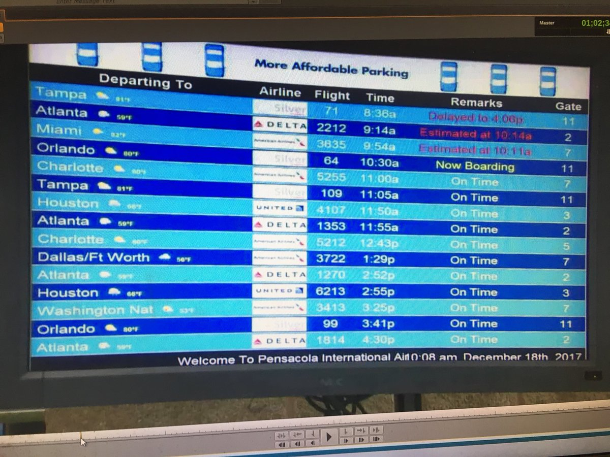 Flights seem to be back to normal to Atlanta @flypensacola