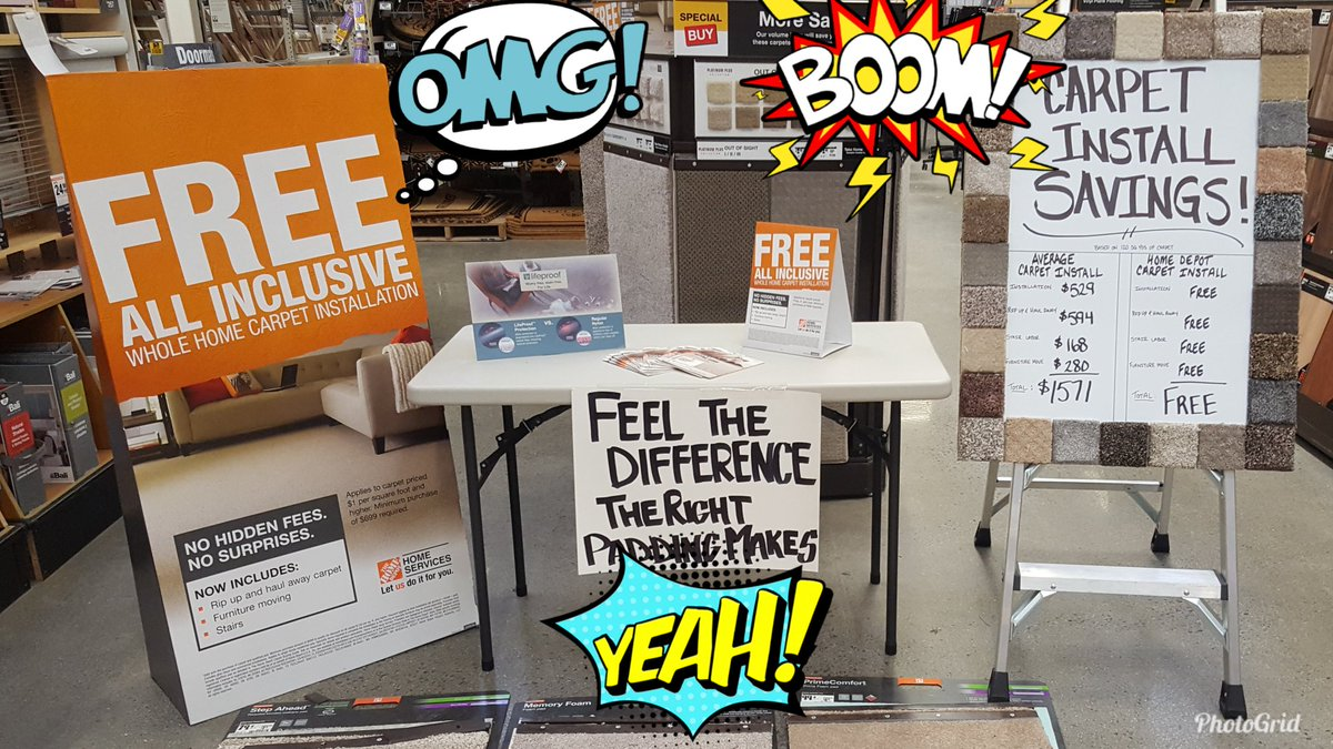 Andrew Harto On Twitter Truly Free Carpet Install Come Down To Westspringfield Homedepot Sign Up Today Thank You Thee4285 For The Inspiration