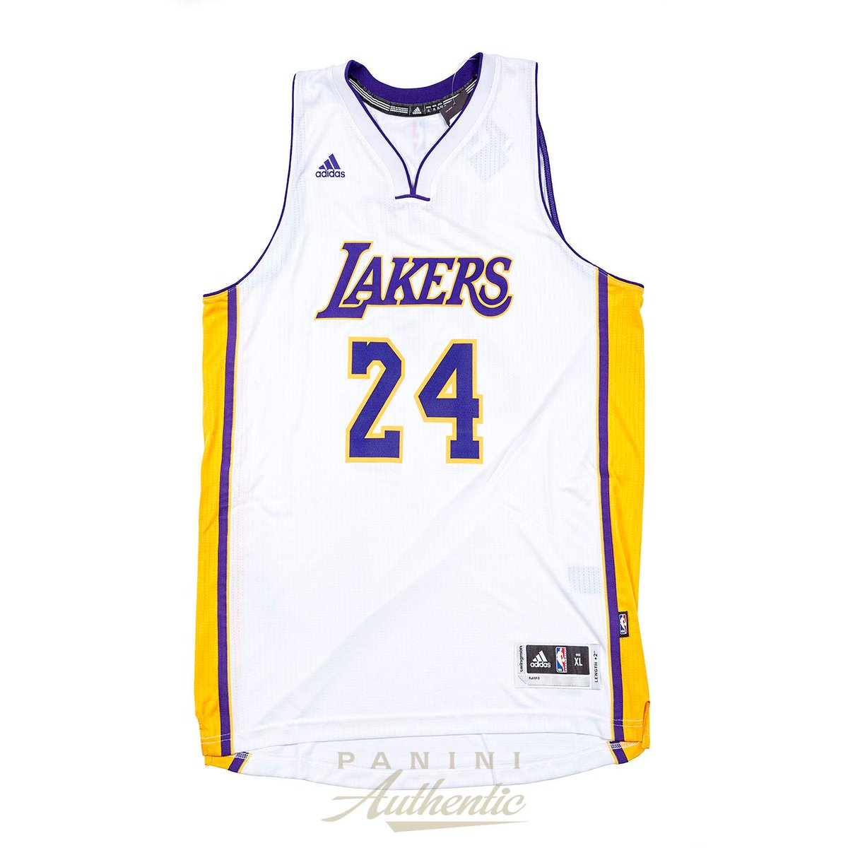 3d68886ec ... but here s your chance to own a collectible Kobe Bryant autographed  Lakers white Swingman Jersey. Plus