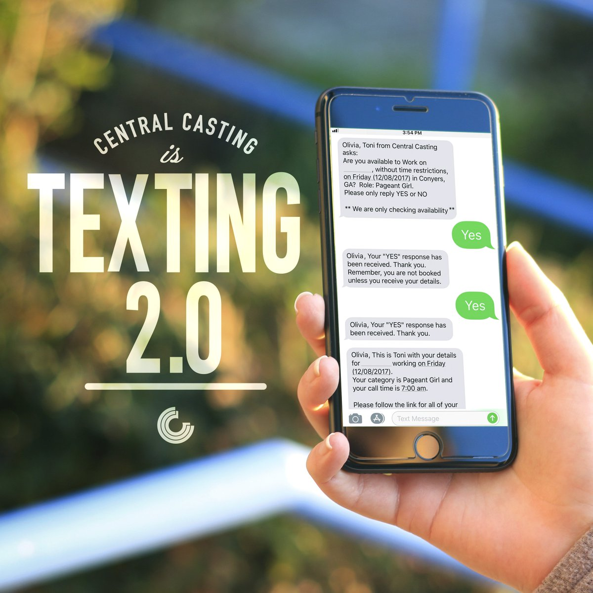Our latest texting update allows casting directors