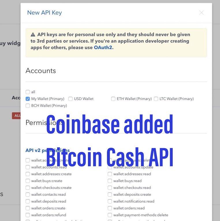 coinbase bitcoin cash update