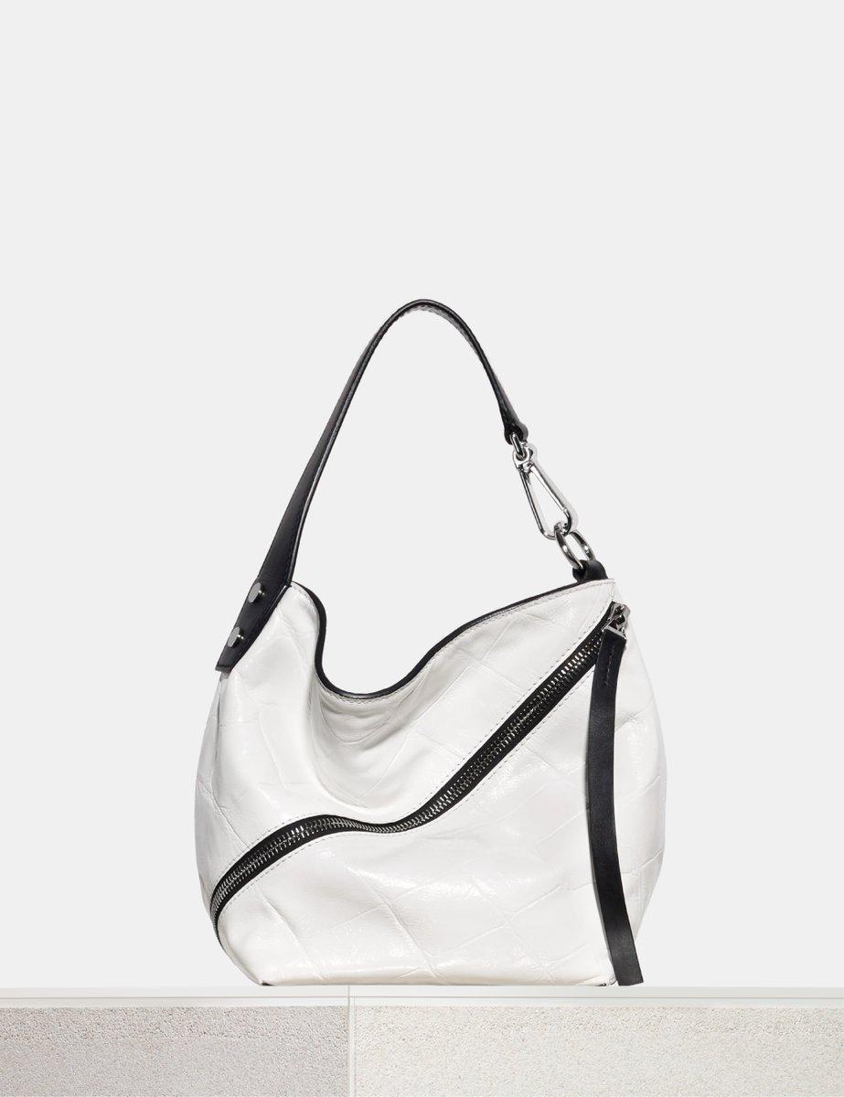 White Zip Hobo Croc Leather Shoulder Bag Proenza Schouler i0yxg