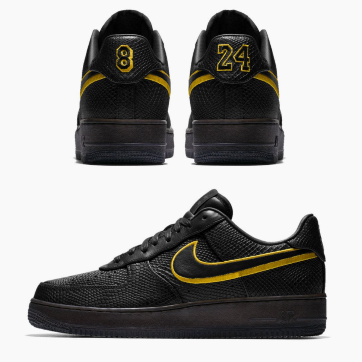 f8af62f3a6d ... promo code for sole links on twitter special edition nike air force 1  low prm black