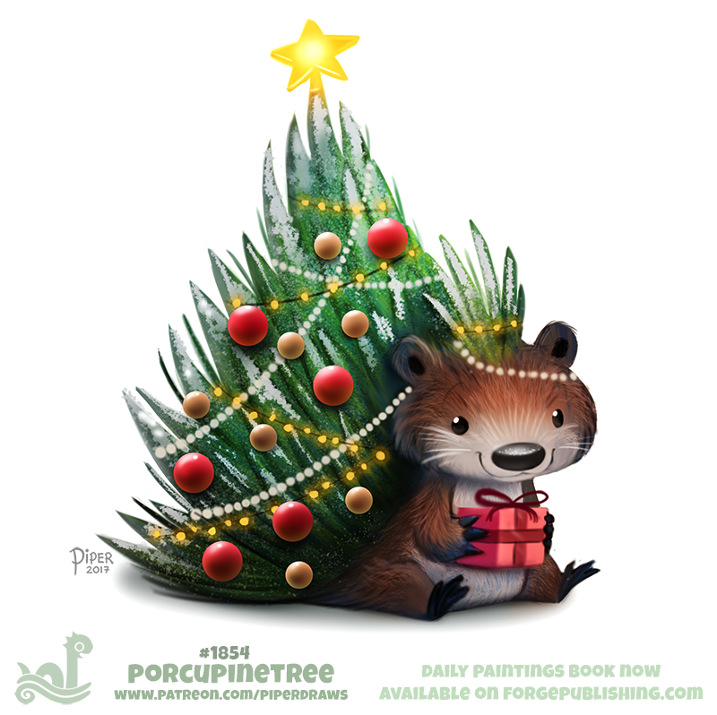 And More Patreon Piperdraws Daily Paintings Book Now Available ForgePublishing Shop Illustration Cute Christmas Holiday