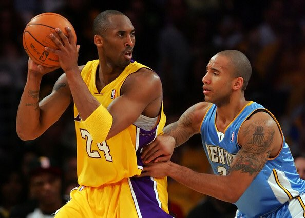 Congrats @kobebryant on the momentous occasion. Both #8 and #24 being retired is well deserved. One of the greatest to ever play and the hardest for me to guard. Thank you for what you've given to this game of basketball. #mambaday