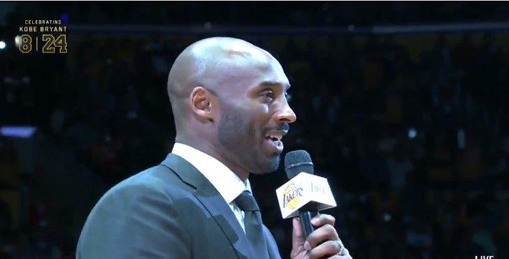 【字幕】即興演講!Kobe:妻子激勵我最後一戰 感謝球迷高標準