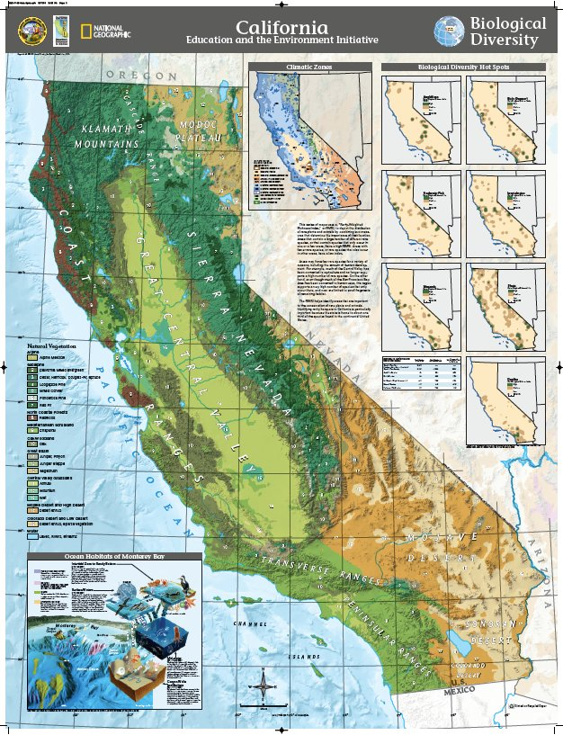 Map Of California Climate Zones.California Eei On Twitter Biological Diversity Natgeoeducation