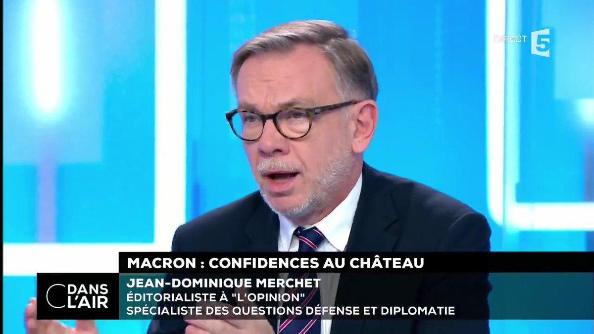 """#Macron20HWE : """"La vraie formule importante de dimanche soir est : 'il faudra parler à #BacharelAssad'. Cela fait 7 ans qu'aucun président de la République française n'a dit ces mots"""". @jdomerchet #Macron #Syrie #cdanslair"""
