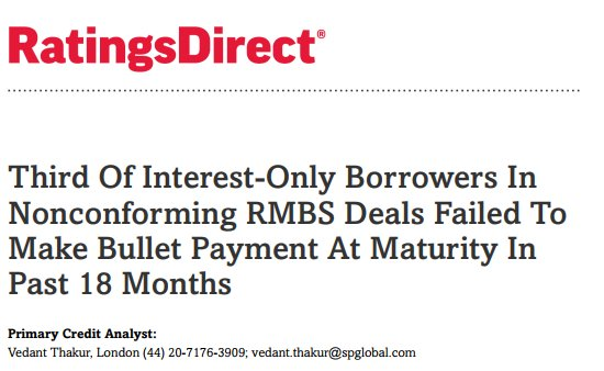 s p global ratings on twitter third of interest only borrowers in