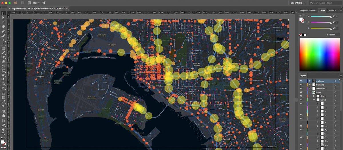 Maps Integration For Adobe Creative Cloud