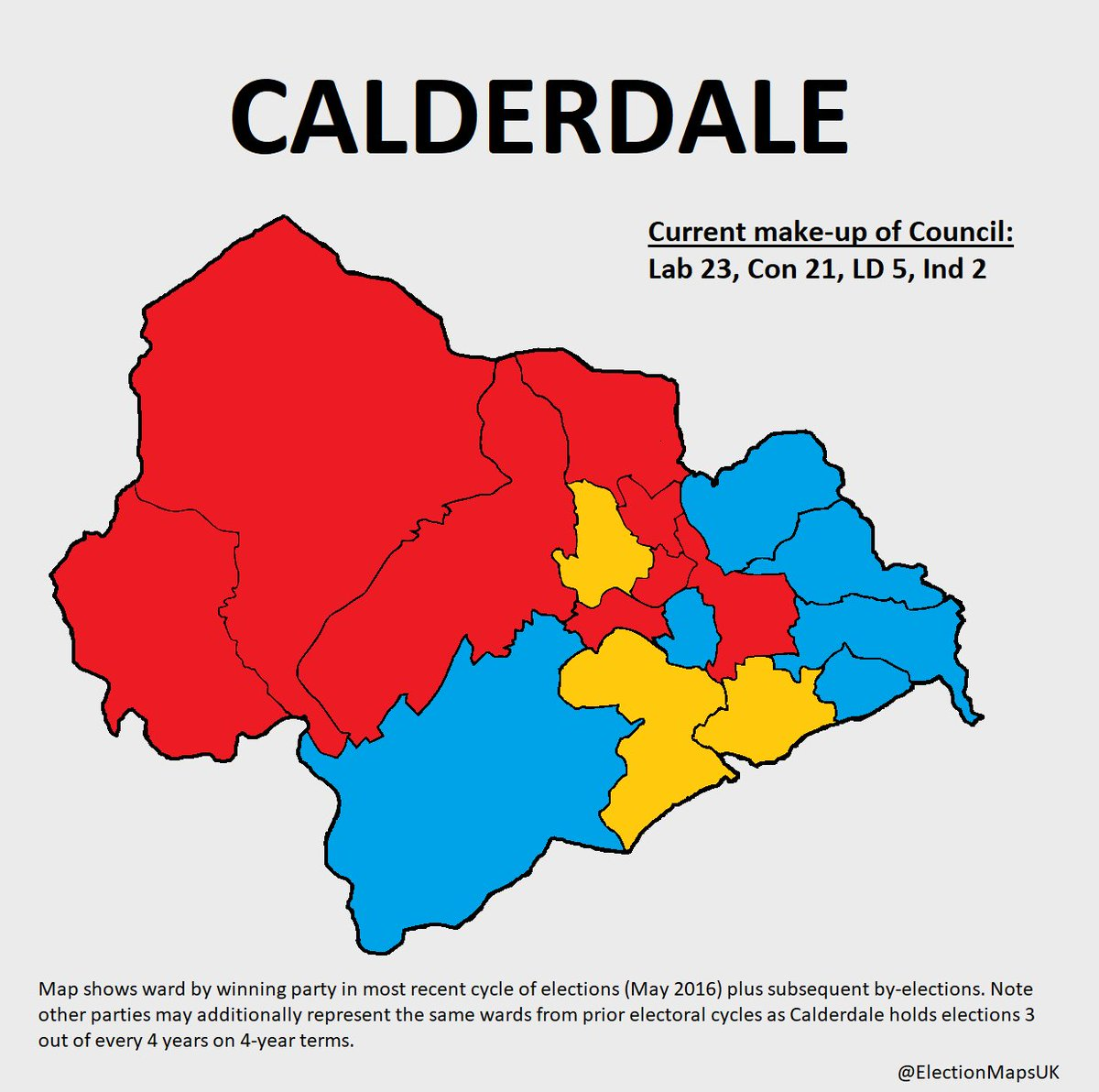Election Maps Uk On Twitter Calderdale Calderdale Has No