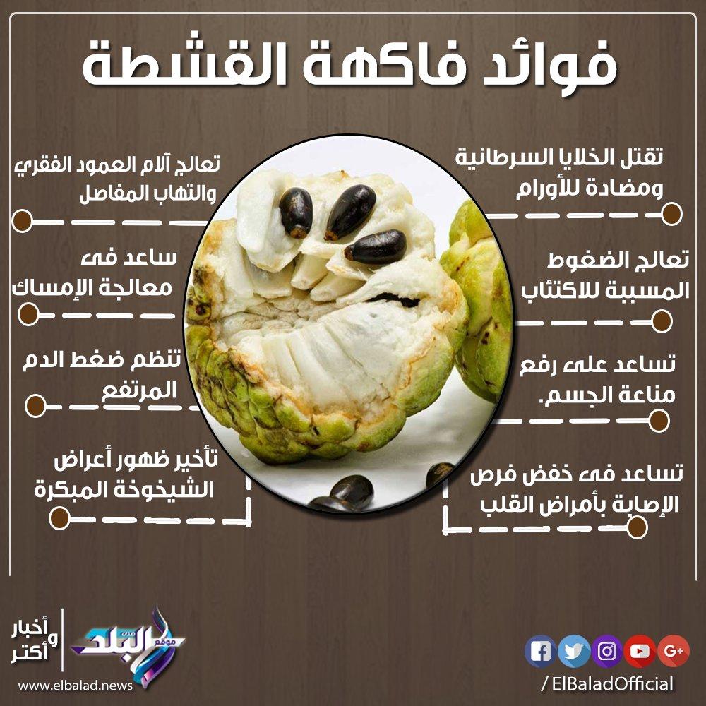 صدى البلد Su Twitter صدى البلد تعرف على فوائد فاكهة القشطة