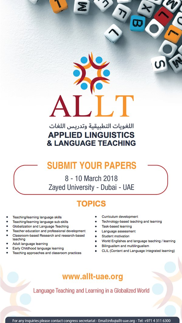 on twitter the applied linguistics and language convention centre dubai uae under the theme language teaching and learning in a globalized world httpallt uae picittera40sui9rwx altavistaventures Image collections
