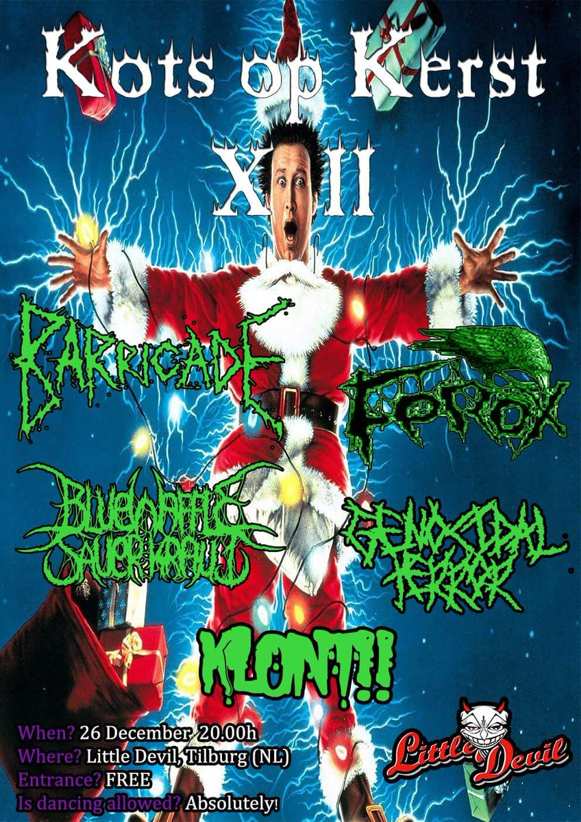 klont on twitter for the christmas lovers great party with great bands free entrance grindcore deathmetal christmascarols party live liveshow - Death Metal Christmas