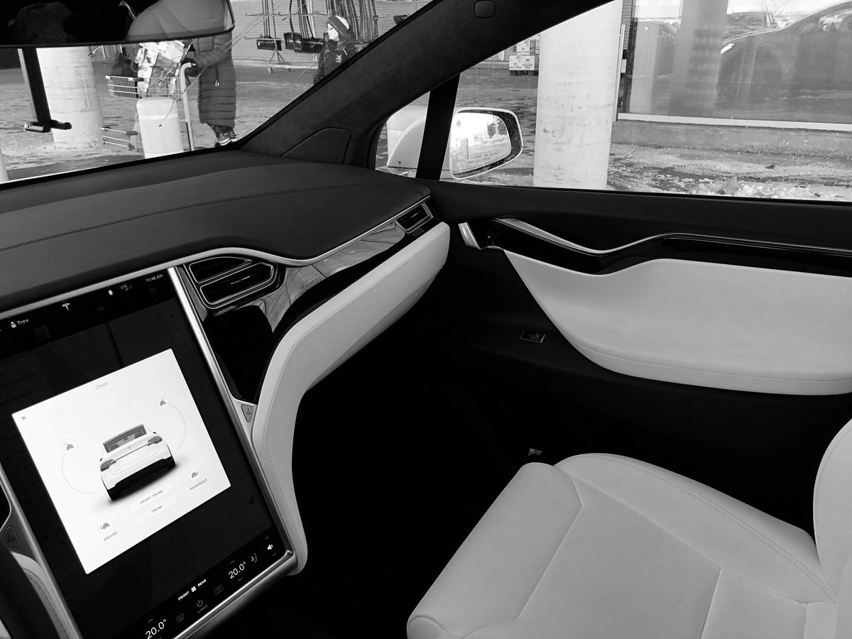 Tesla model s interior white for Interior tesla model s