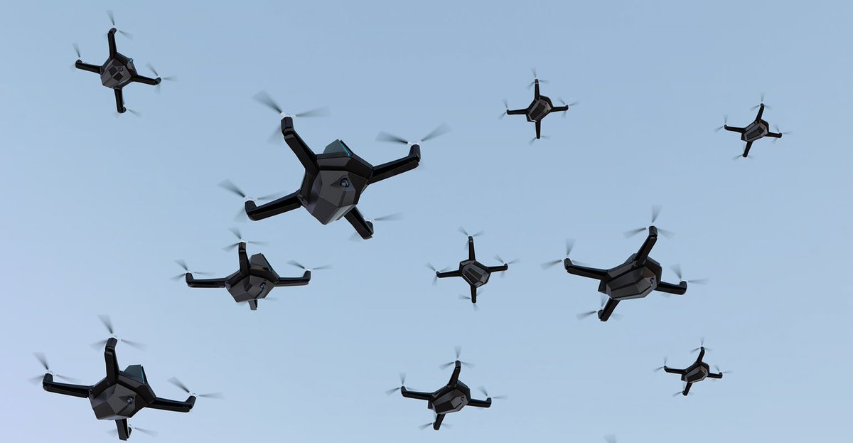 By Jeffdanielsca Drone Swarm DroneSwarm UAV Microdrone Tech Drones Robotics Cyber Cyberspace Robot WarBot Nextgen Defense NorthKorea