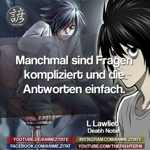 Anime Zitate On Twitter Deathnote Animezitate Anime