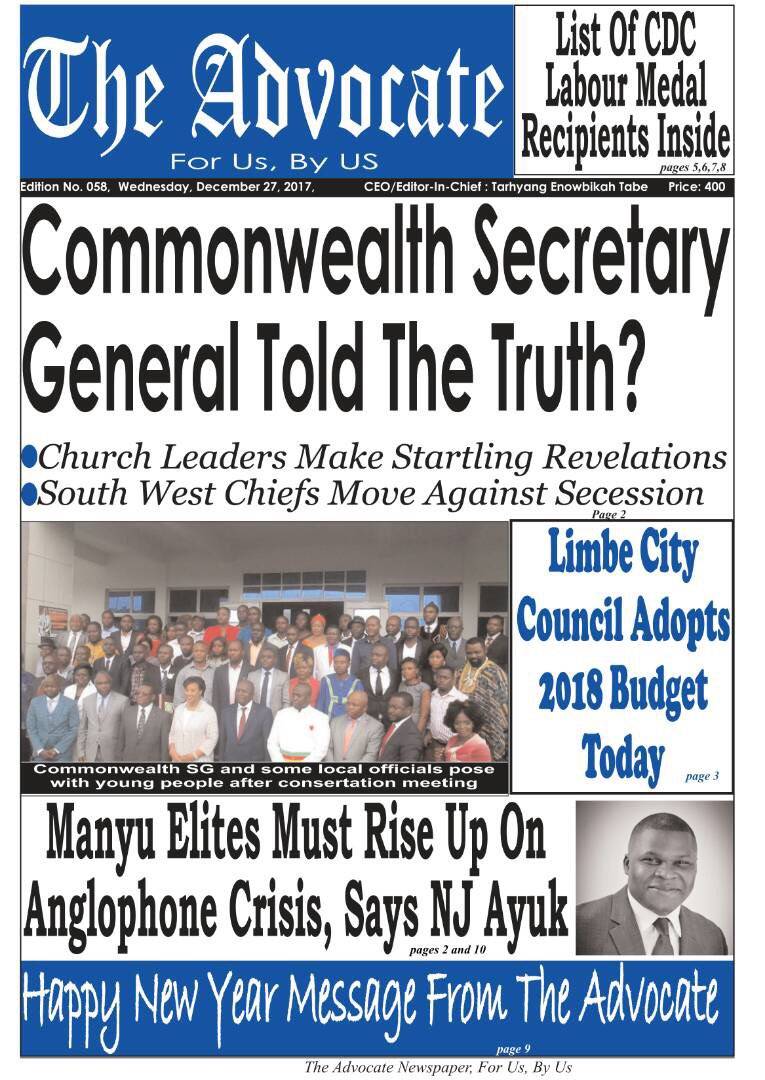 I can't believe!!! The Oil Magnet @nj_ayuk has slammed the hammer once again in Cameroon. 27/12/2017