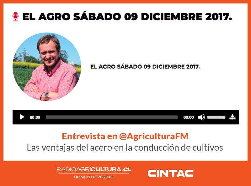 En @AgriculturaFM, explicando las ventajas del acero en la conducción de cultivos #CentralCintac #TutorFrutal - https://goo.gl/DTjmFe
