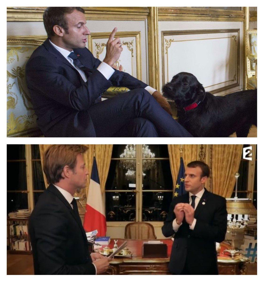 Après l'indécente mise en scène de la communication de #Macron par #Delahousse sur chaîne publique qui fonctionne avec notre redevance soit @France2tv, le Président peut compter sur un nouvel ami fidèle ##Macron20HWE