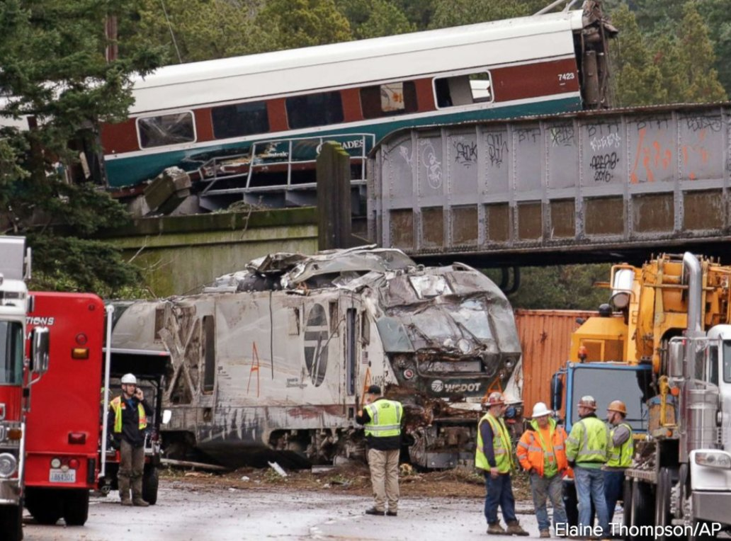 Coming up: the latest on the amtrak train derailment in