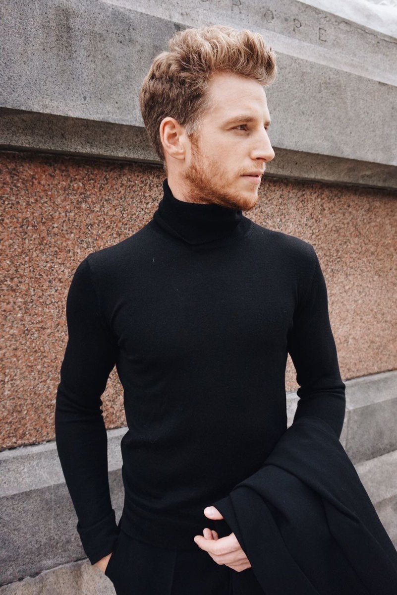 Sleek and sharp, wear our black merino polo-neck under a jacket for a sophisticated look. Styled here by @rogerframpton - Shop the look https://t.co/kBOFbZWbw3 https://t.co/63cryQiGiu