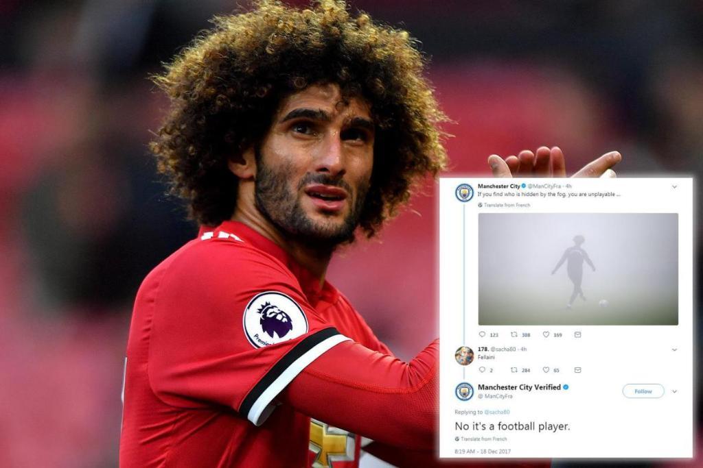 Ман Сити через твиттер подшутил над игроком Ман Юнайтед