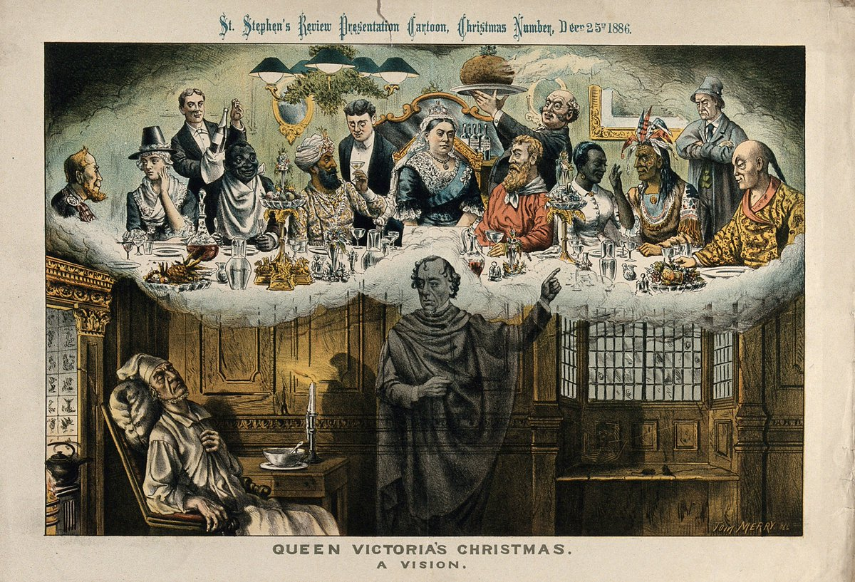 this political cartoon from 1886 shows ex prime minister william gladstone as scrooge being shown a vision by the ghost of benjamin disraeli - When Was A Christmas Carol Published