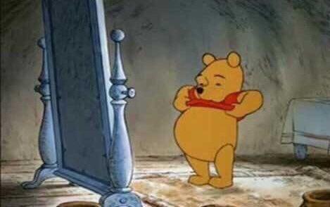 me tornei aquilo que eu sempre admirei  o ursinho pooh