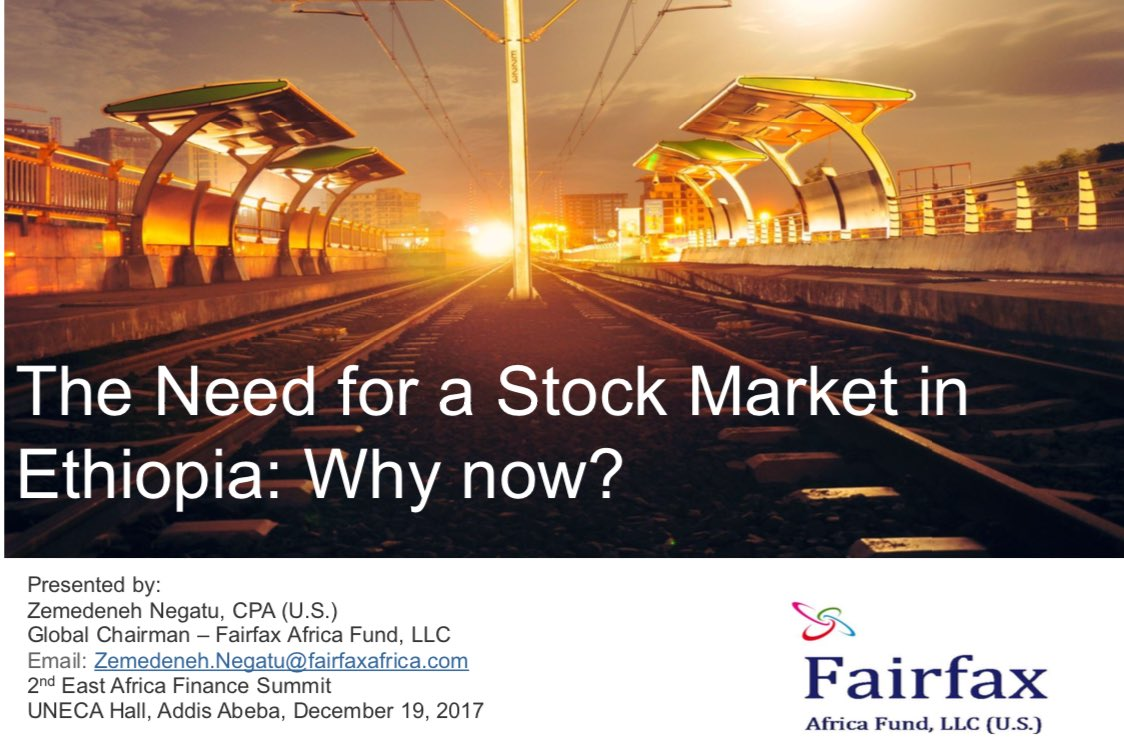 establishing secondary market in ethiopia finance essay Maybe some of us are familiar with the term stock exchange or stock market from news papers a capital market is designed to finance to establish such.