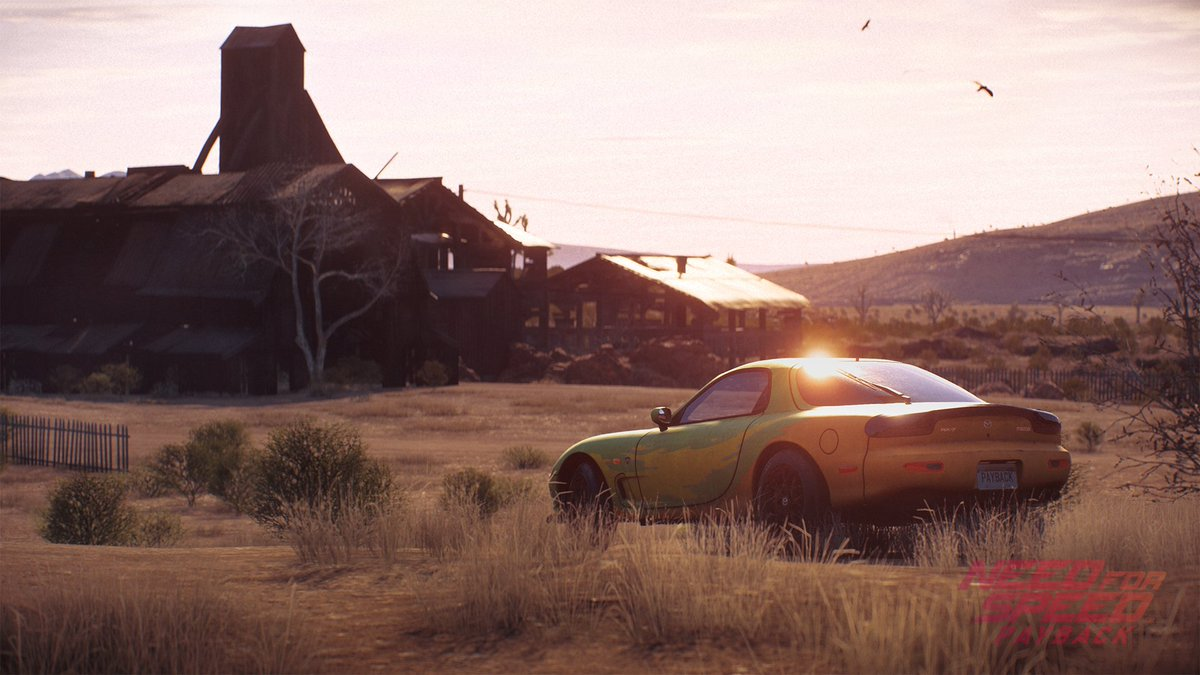need for speed payback first abandoned car