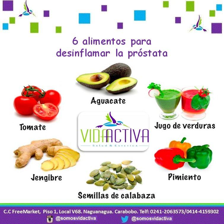 alimentos para combatir la inflamacion de la prostata