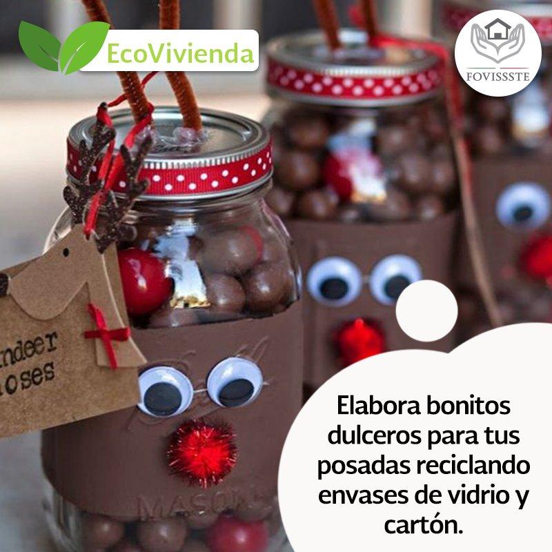 """FOVISSSTE On Twitter: """"Recicla Y Elabora Bonitos Dulceros"""