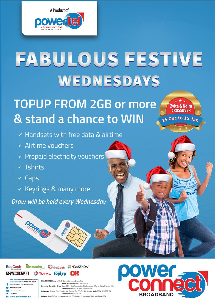 26ef5ad58 Join the festive fun at Powertel Joina City on 2nd Floor on Wednesday 20  Dec !pic.twitter.com nyewsRg86t